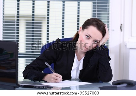 contract signature - stock photo