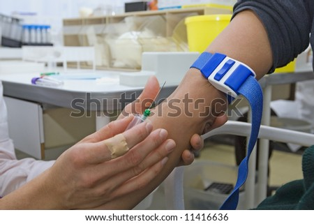 control blood in a laboratory - stock photo