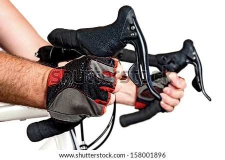Control of the road bicycle - stock photo