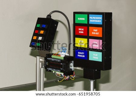Control Panel Electrical With Plc Controller Equipment At Workshop