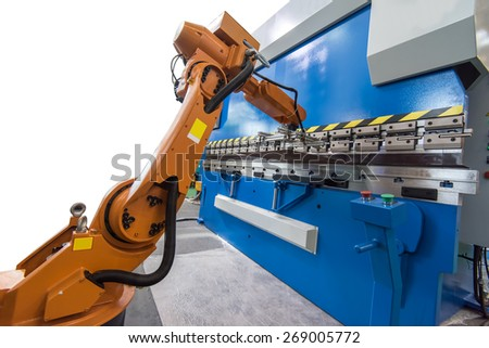 Controler of robotic hand - stock photo