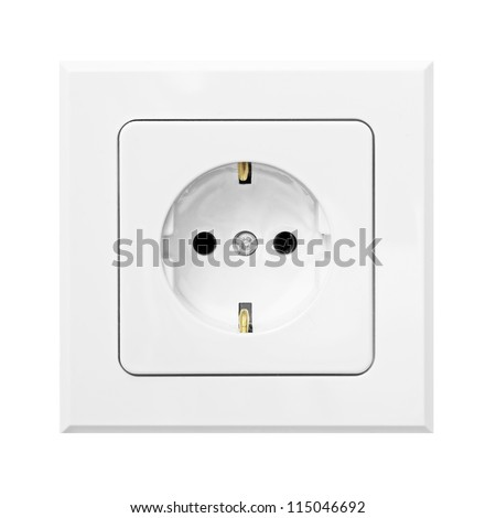 convenience outlet isolated on white background - stock photo