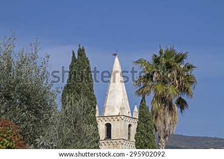 Convento San Domenico is one of the main attractions in Taggia - stock photo