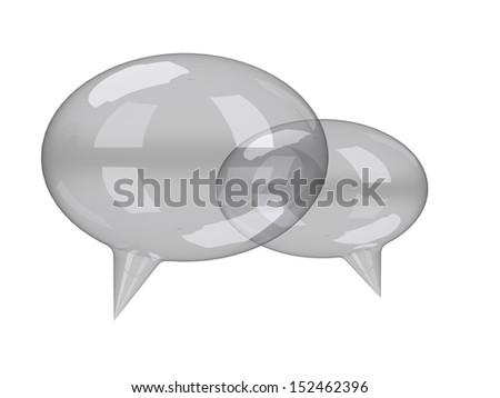 conversation bubbles - stock photo