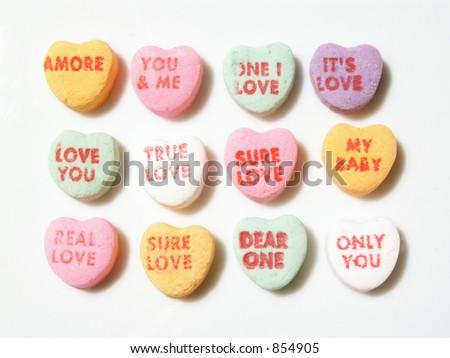 conversation hearts - stock photo