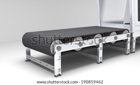 conveyor belt with transformer for use in presentations, manuals, design, etc. - stock photo
