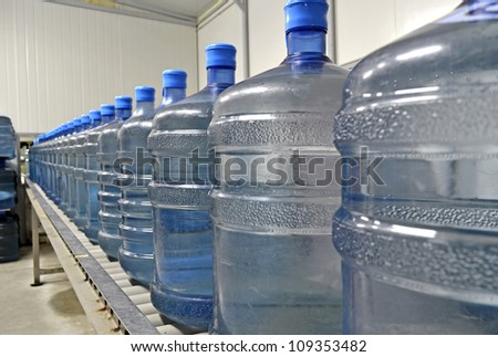 Conveyor line - stock photo