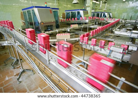 conveyor line - stock photo