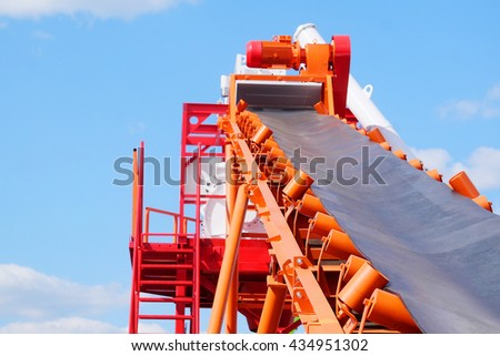 Conveyor of a cement factory