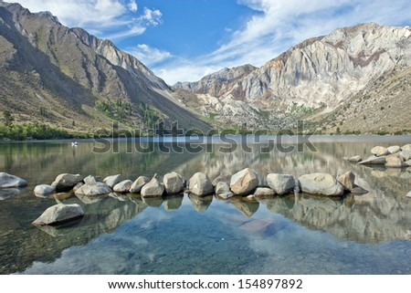Convict Lake in the Eastern Sierra Nevada mountains, California - stock photo