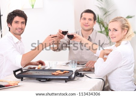 Convivial meal - stock photo