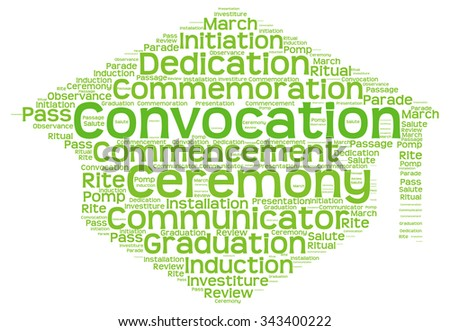 Convocation Word Cloud Illustration In Mortar Board Shape