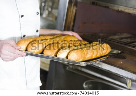 Cook in a kitchen - stock photo