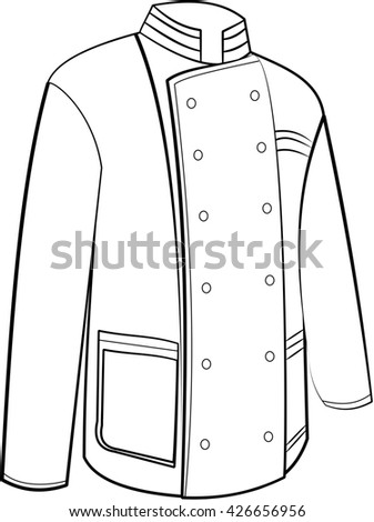 Cook's coat tunic illustration - stock photo