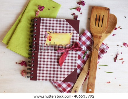 cookbook for recipes - stock photo
