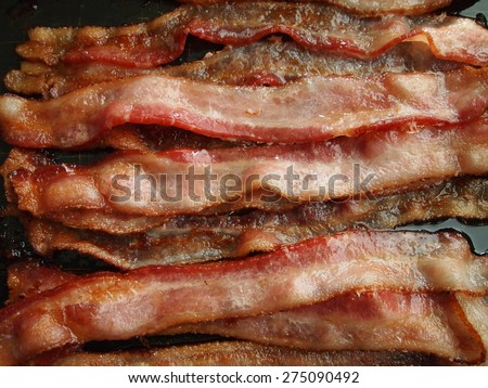 Cooked Bacon - stock photo
