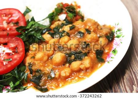Cooked chikpea - stock photo