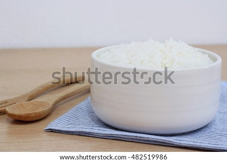 cooked rice or jasmine rice.
