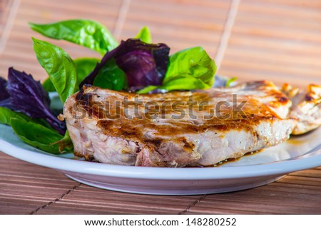 Cooked steak - stock photo