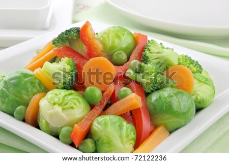 Cooked vegetables - stock photo