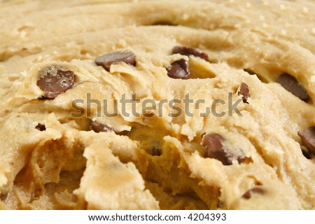 Cookie Dough Macro - stock photo