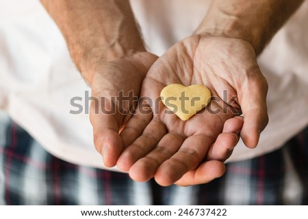 cookie heart in human hands