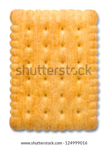 Cookie isolated on a white background - stock photo