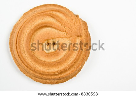 Cookie ring isolated on white - stock photo
