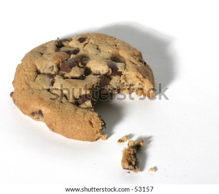 cookie with bite taken out - stock photo