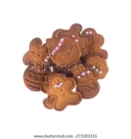 Cookie. X'mas Cookie on the background. Cookie. Gingerbread Cookie on the background. - stock photo