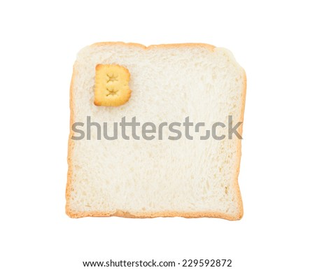Cookies ABC with bread containing letters - B,  isolated on white background