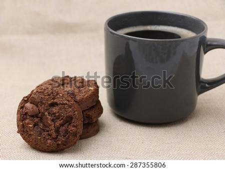 Cookies and Coffee - stock photo