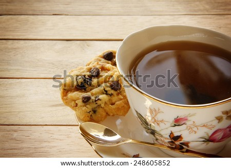 Cookies and Tea for Breaking - stock photo