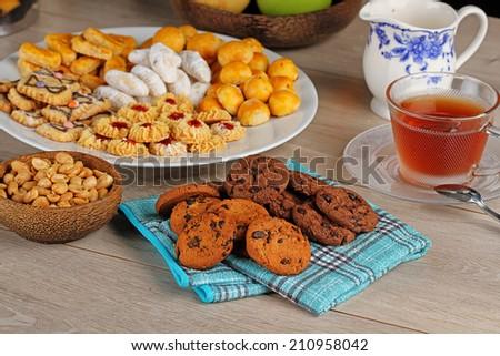 cookies for hari raya aidilfitri, Indonesian cookies - stock photo