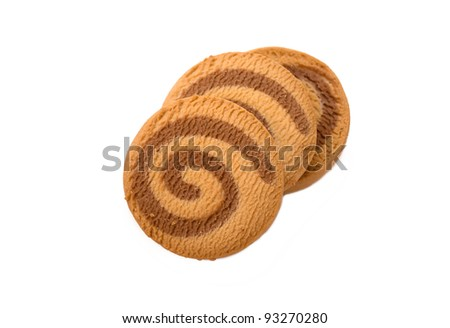 cookies in the form of spirals - stock photo