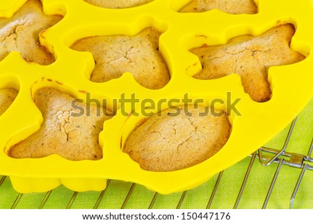 Cookies in yellow silicon mode - stock photo