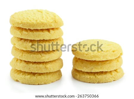 Cookies isolated on white background. - stock photo