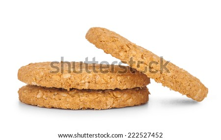 cookies  isolated white - stock photo
