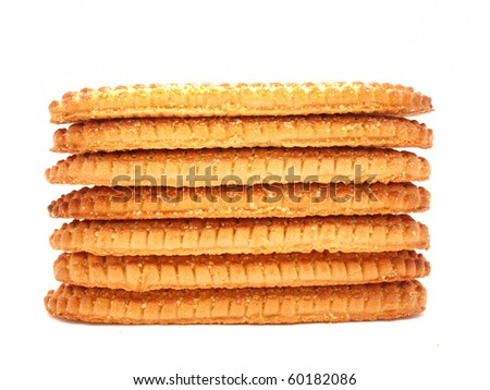Cookies on a white background