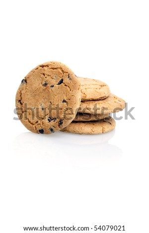 Cookies on isolated white background - stock photo