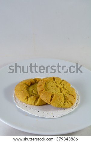 Cookies Phuket , Sii Tao Sor, Phuket traditional snack, applies from original - stock photo