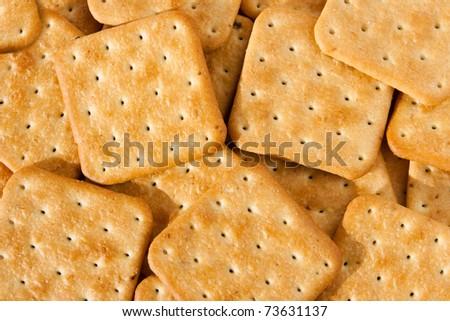 cookies, Saltine cracker, background - stock photo
