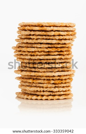 cookies stack isolated on white