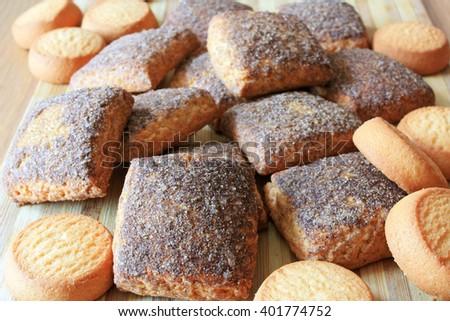 Cookies with cinnamon - stock photo
