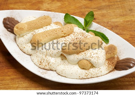 cookies with marshmallows - stock photo