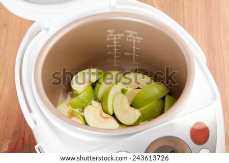 cooking apple pie - stock photo