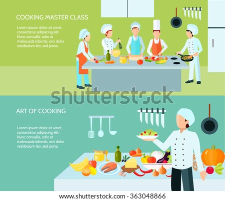 Cooking Art Banner Set  - stock photo
