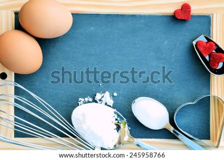 cooking background for text - stock photo