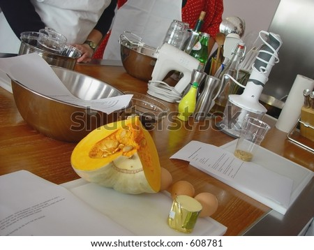 Cooking class - stock photo