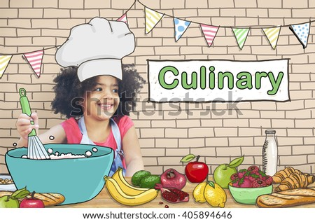 Cooking Culinary Gourmet Baking Healthy Children Hobby Concept - stock photo